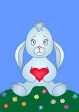 hjärtaängkanin Royaltyfri Illustrationer
