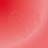 Hjärtaöversikt från vattendroppar. Vektorillustration Royaltyfri Illustrationer