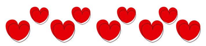 Hjärtaöverskrift stock illustrationer