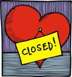 Hjärta är stängd royaltyfri illustrationer