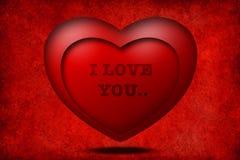 hjärta 3d älskar jag red dig Arkivbild