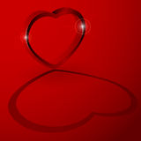 hjärta 3D med skuggar Arkivfoton