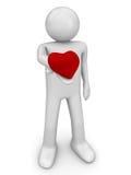 hjärta 4 min take Fotografering för Bildbyråer
