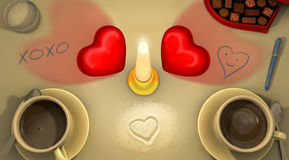 Hjärta A1 för hjärta 2 Arkivbilder