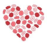 Hjärta av blommor Arkivfoto