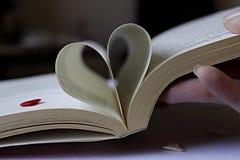 Hjärta av boken royaltyfria foton