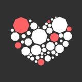 Hjärta av diamanter Arkivfoto