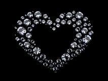 Hjärta av diamanter Arkivbild