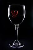 Hjärta av exponeringsglas Arkivbild