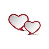 Hjärta av förälskelse .eps10 Fotografering för Bildbyråer