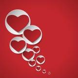 Hjärta av förälskelsebakgrund Royaltyfri Foto