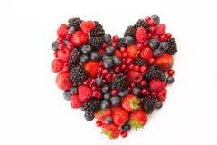 Hjärta av frukt arkivbild