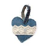 Hjärta av grov bomullstvill Arkivfoton