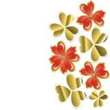 Hjärta av guld- leafväxt av släkten Trifolium Arkivfoto