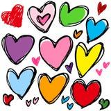 Hjärta av handskrift Arkivfoto