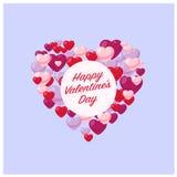 Hjärta av hjärtor valentin för förälskelse s för daghjärtaillustration Royaltyfri Fotografi