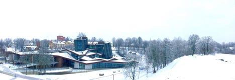 Hjärta av Latgale Rezekne stad Vinter 2016 Arkivbilder