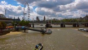 Hjärta av London på en typisk molnig dag Arkivbilder