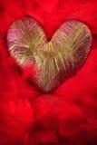 Hjärta av lurex Royaltyfri Foto