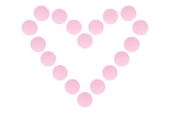 Hjärta av preventivpillerar royaltyfri foto