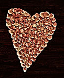 Hjärta av rosor Royaltyfri Foto