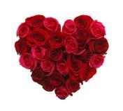 Hjärta av rosor Royaltyfri Bild