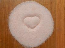 Hjärta av salt Fotografering för Bildbyråer