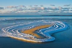 Hjärta av snö Fotografering för Bildbyråer