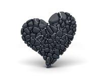 Hjärta av stenar vektor illustrationer