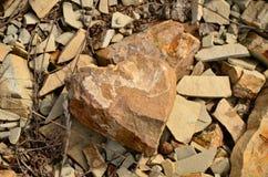 Hjärta av stenen Arkivfoton