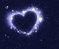 Hjärta av stjärnor Arkivbild