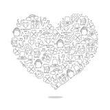 Hjärta av symbolen av St Patrick Utmärkt gåvakort vektor illustrationer
