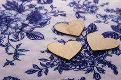Hjärta av trä Fotografering för Bildbyråer