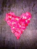 Hjärta av väcker kronblad Royaltyfri Fotografi