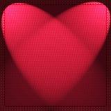 Hjärta bildar tänder Arkivfoton