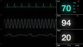 Hjärta ECG 4K stock video