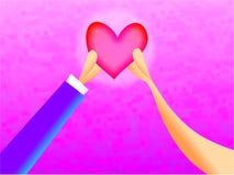 hjärta en stock illustrationer