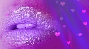 Hjärta för disko för kantneonglamour, valentin dagflicka royaltyfri bild