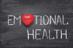 Hjärta för emotionell hälsa arkivbild