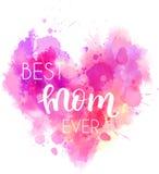 Hjärta för ferie för dag för moder` s royaltyfri illustrationer