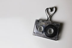 Hjärta för form för ljudkassettband Royaltyfria Foton