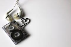 Hjärta för form för ljudkassettband Arkivfoto