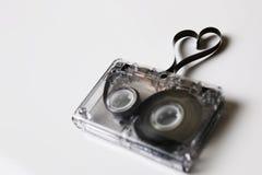 Hjärta för form för ljudkassettband Fotografering för Bildbyråer