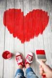 hjärta för gåvan för dagen för begreppet för den blåa asken för bakgrund isolerade begreppsmässig valentiner för quill för smycke Arkivfoton