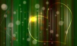 hjärta för green för bakgrundsG-gem som white Vektor Illustrationer