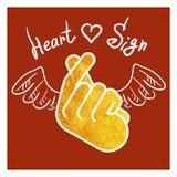 Hjärta för hand för teckensymbolssymbol royaltyfri illustrationer