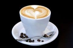 hjärta för kaffekopp Arkivfoto