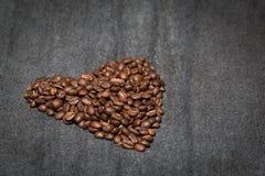 hjärta för kaffekopp Royaltyfri Fotografi
