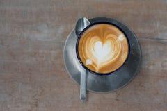 hjärta för kaffekopp Arkivbild
