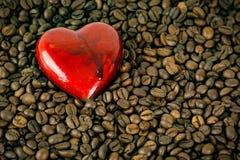 hjärta för kaffekopp Royaltyfria Bilder